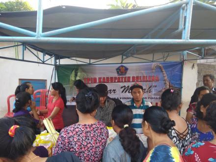 Menyambut Hari Raya Kuningan dan Lebaran: PD Pasar Buleleng Gelar Pasar Murah di Dencarik