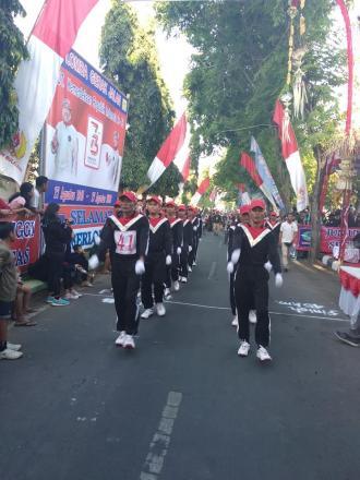 Semarak Perayaan HUT ke-73 RI, Dencarik Wakil Kecamatan Banjar di GJ45