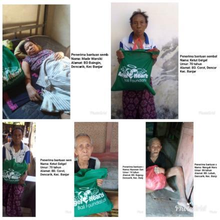 Yayasan Angel Hearts Bali Peduli Masyarakat Dencarik