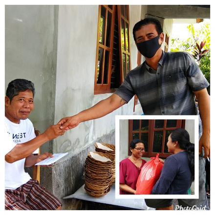 Wujud Implementasi Perbup Nomor 69 Tahun 2019, Perbekel Dencarik Serahkan Dana Purna Bhakti